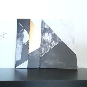2/$15 Softcover lined notebooks 3p geometric